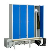 Module de 4 casiers ventilés industrie salissante