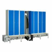 Module de 8 casiers ventilés industrie salissante