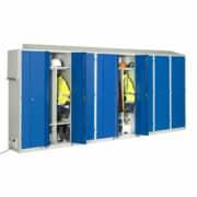 Une batterie de 8 cases séchantes pour chantier