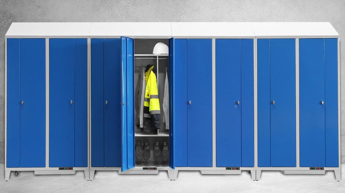Bandeau présentant le nouveau vestiaire chauffant version 8 places