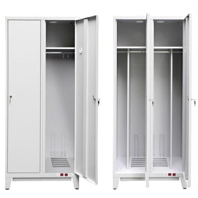 A gauche le vestiaire industrie Propre, à droite le vestiaire industrie salissante LVS-OPTIM