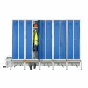 Module de 10 cases (5 places) du vestiaire ventilé industrie propre confort