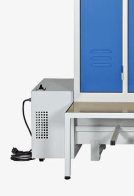 Vestiaire de rangement ventilé